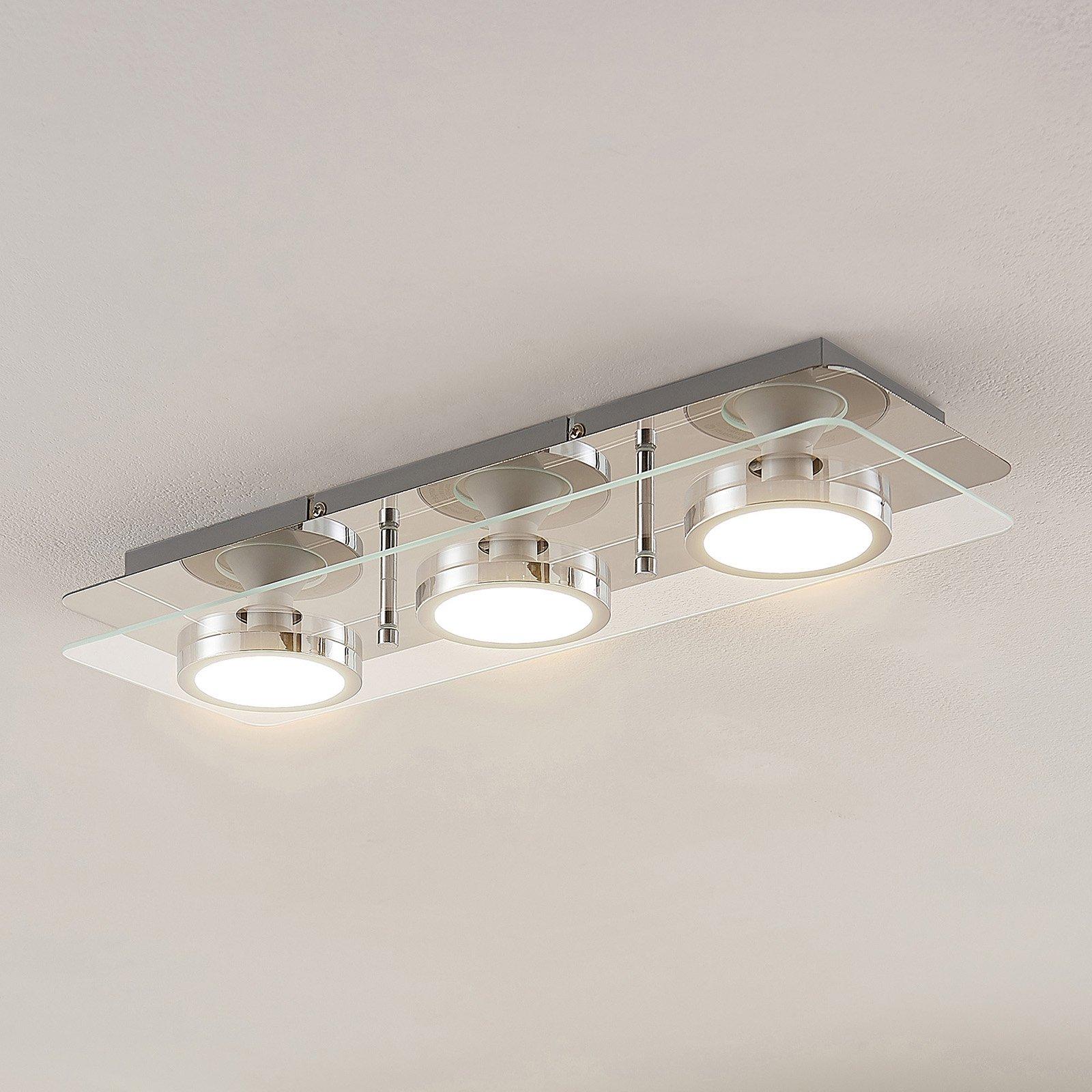Lindby Gabryl LED-taklampe, tre lyskilderr, lang