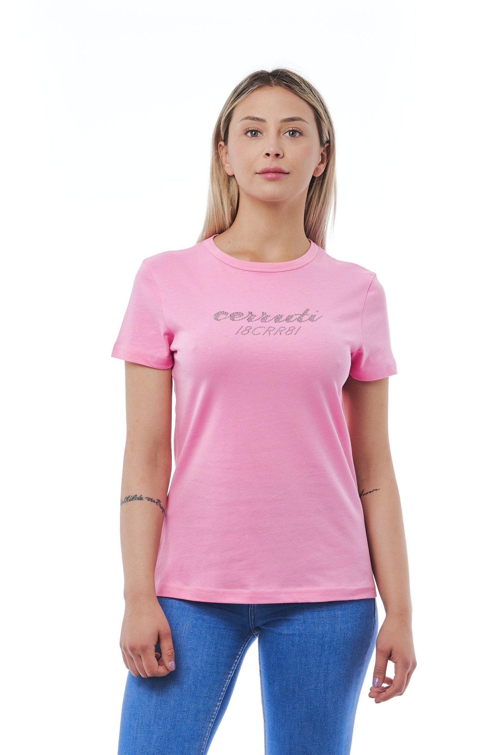 Cerruti 1881 Women's Rosa T-Shirt Pink CE1410228 - M
