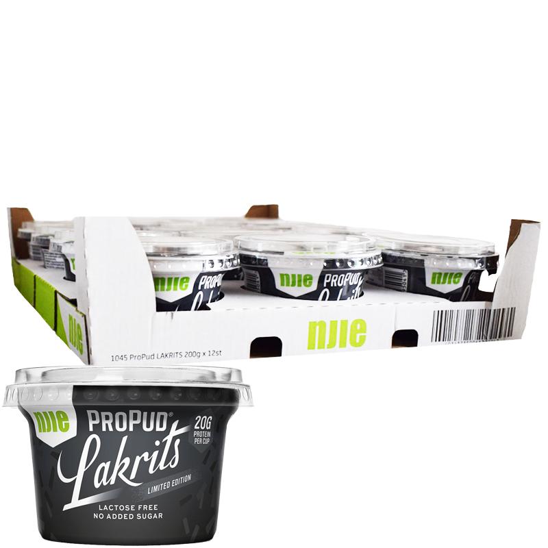 Hel Låda Proteinpudding Lakrits 12 x 200g - 73% rabatt