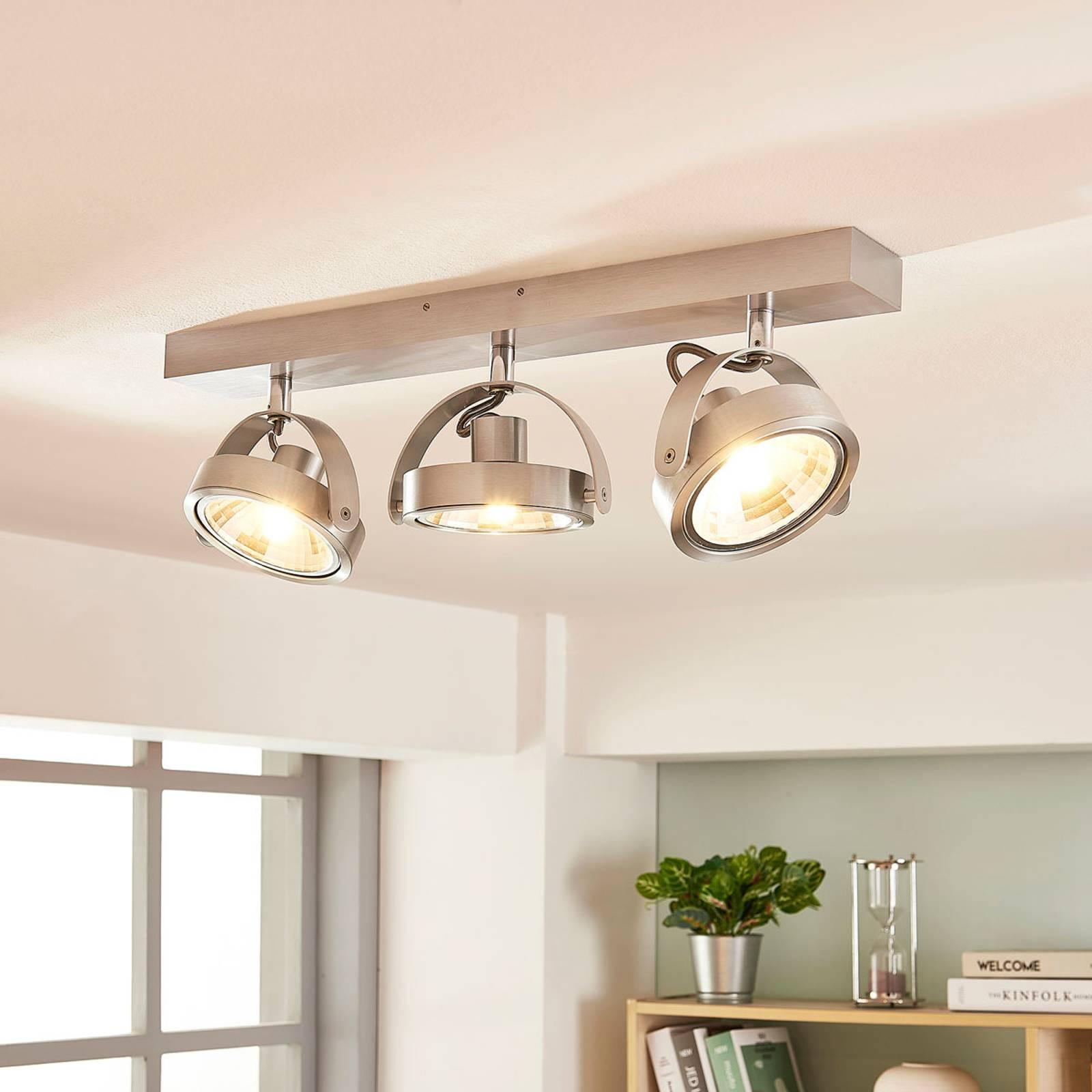 LED-kattokohdevalo Lieven alumiinista, 3-osainen