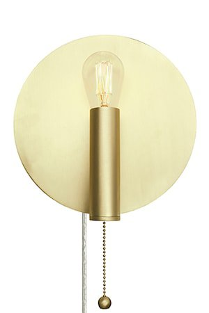 Vegglampe Art Deco Børstet Messing