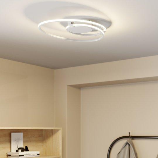 Lindby Xenias -LED-kattovalo, valk., 49 x 30 cm