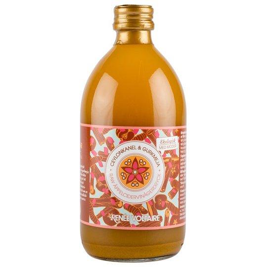 Renee Voltaire Raw Äppelcidervinägerdryck Ceylonkanel & Gurkmeja, 500 ml