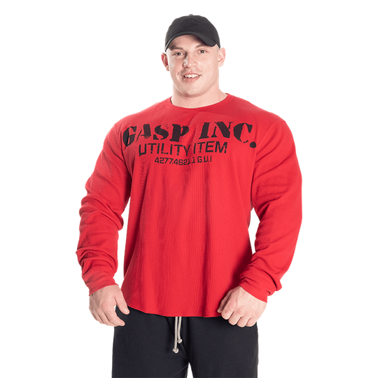 Thermal Gym Sweater, Chili Red