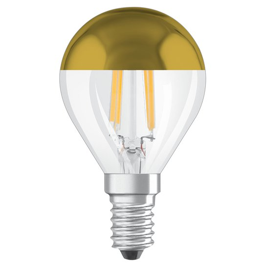 OSRAM-LED-lamppu E14 Mirror CLP gold 4W 2 700 K