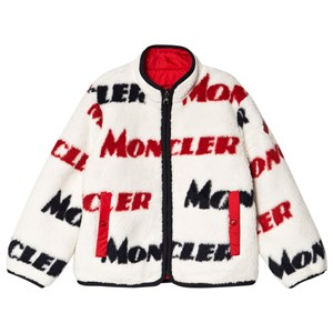 Moncler Cream All Over Branded Teddy Fleece Jacket 4 år