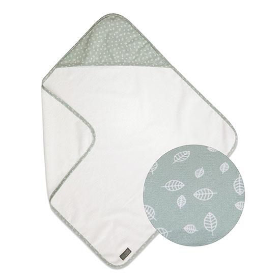 Vinter & Bloom - Nordic Leaf Hooded Bath Towel - Mild Green
