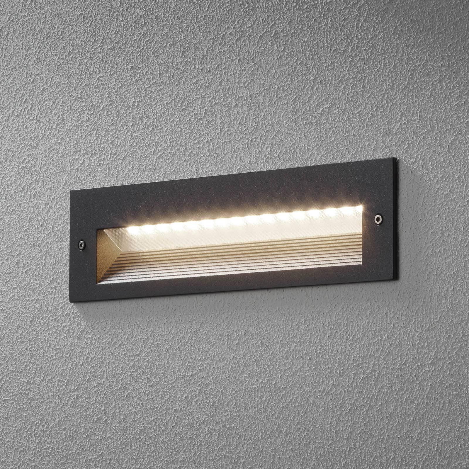 BEGA 33054 LED-veggmontering 3 000 K grafitt 26 cm