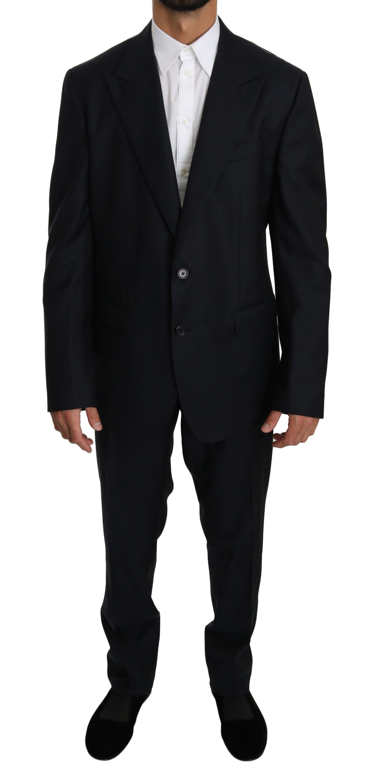 Dolce & Gabbana Men's Wool Slim Fit 2 Piece NAPOLI Suit Blue KOS1612 - IT54 | XL