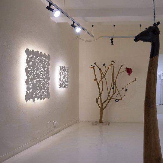 Martinelli Luce Cellule LED-vegglampe 110x110cm