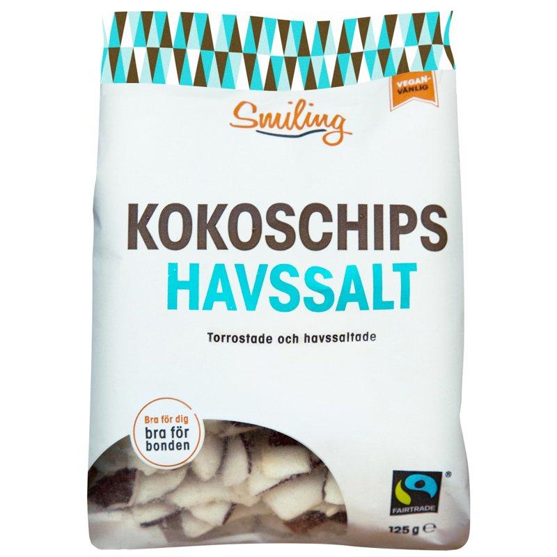 Kokoschips Havssalt 125g - 24% rabatt