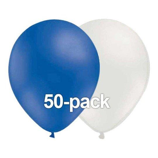 Ballongkombo Blå/Vit - 50-pack