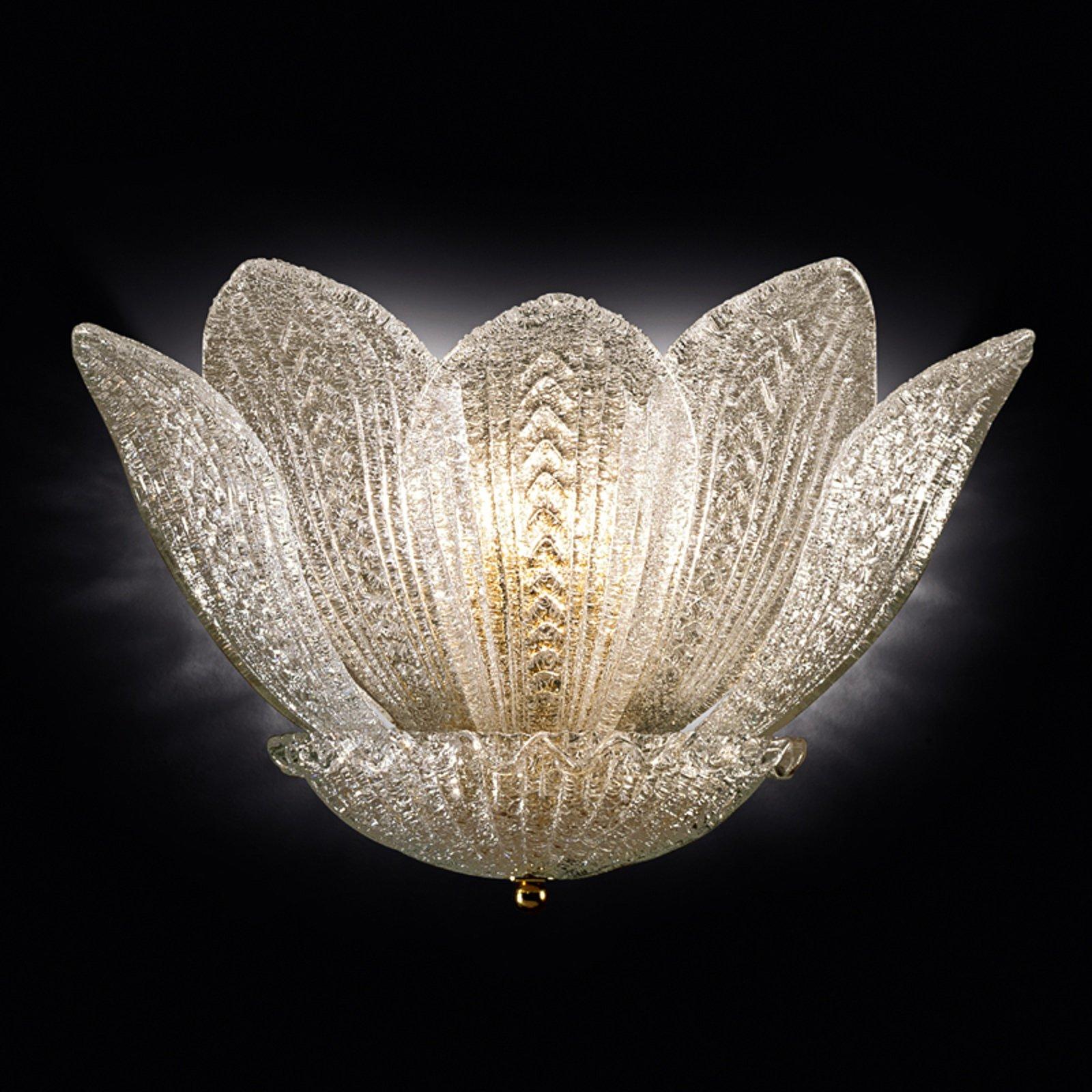 Vegglampe Grecia av glass med gull