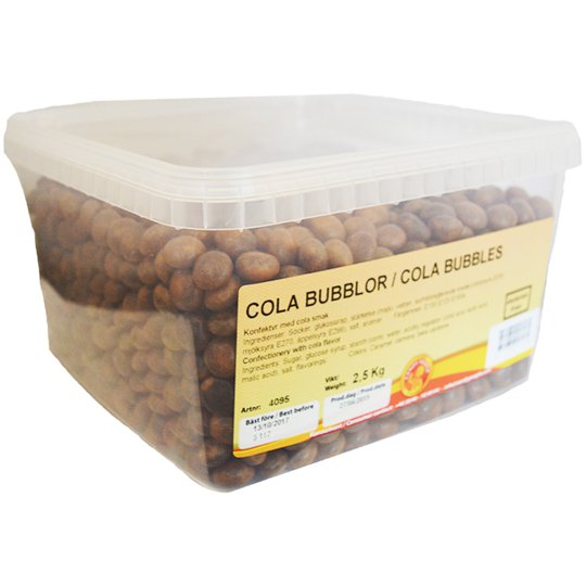 Hel Låda Godis Cola Bubblor 2,5kg - 59% rabatt