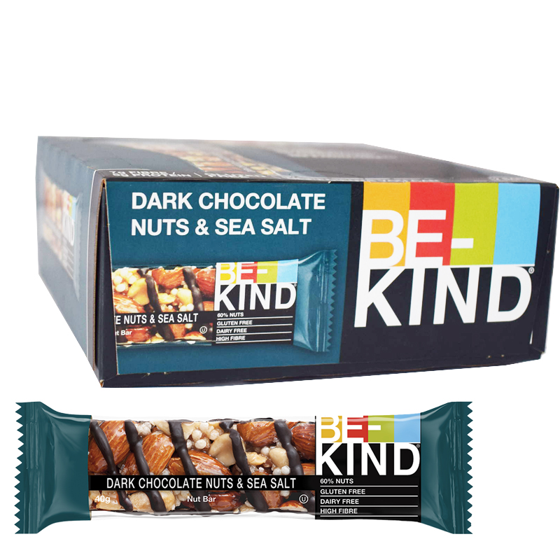 Bar Mörk choklad, nötter & havssalt 12-pack - 64% rabatt