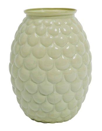 Opal vase bær 20 cm - Grønn