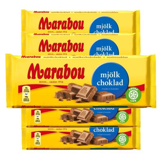Marabou Mjölkchoklad 5-pack - 71% rabatt