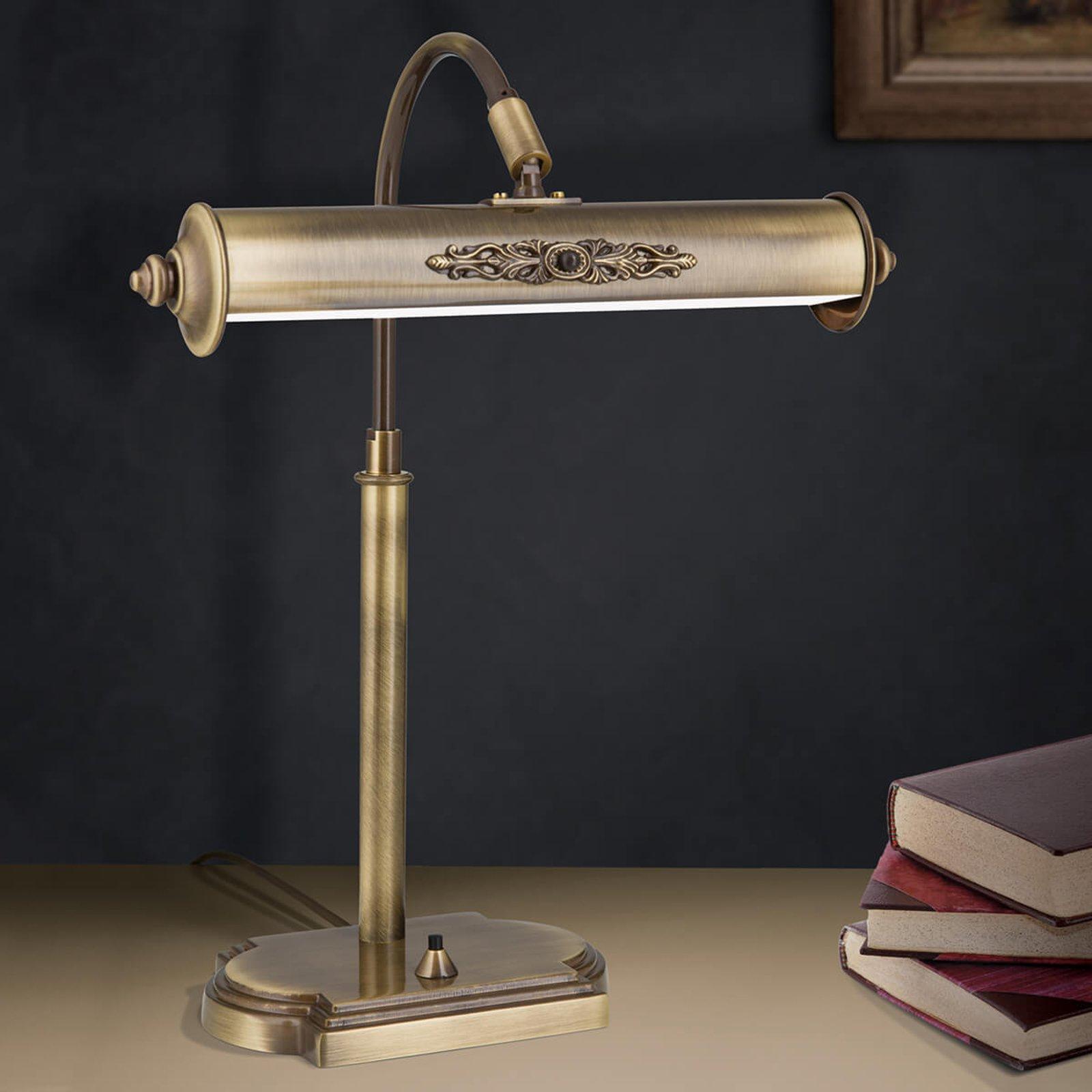 Skrivebordslampe Picture i antikk messing