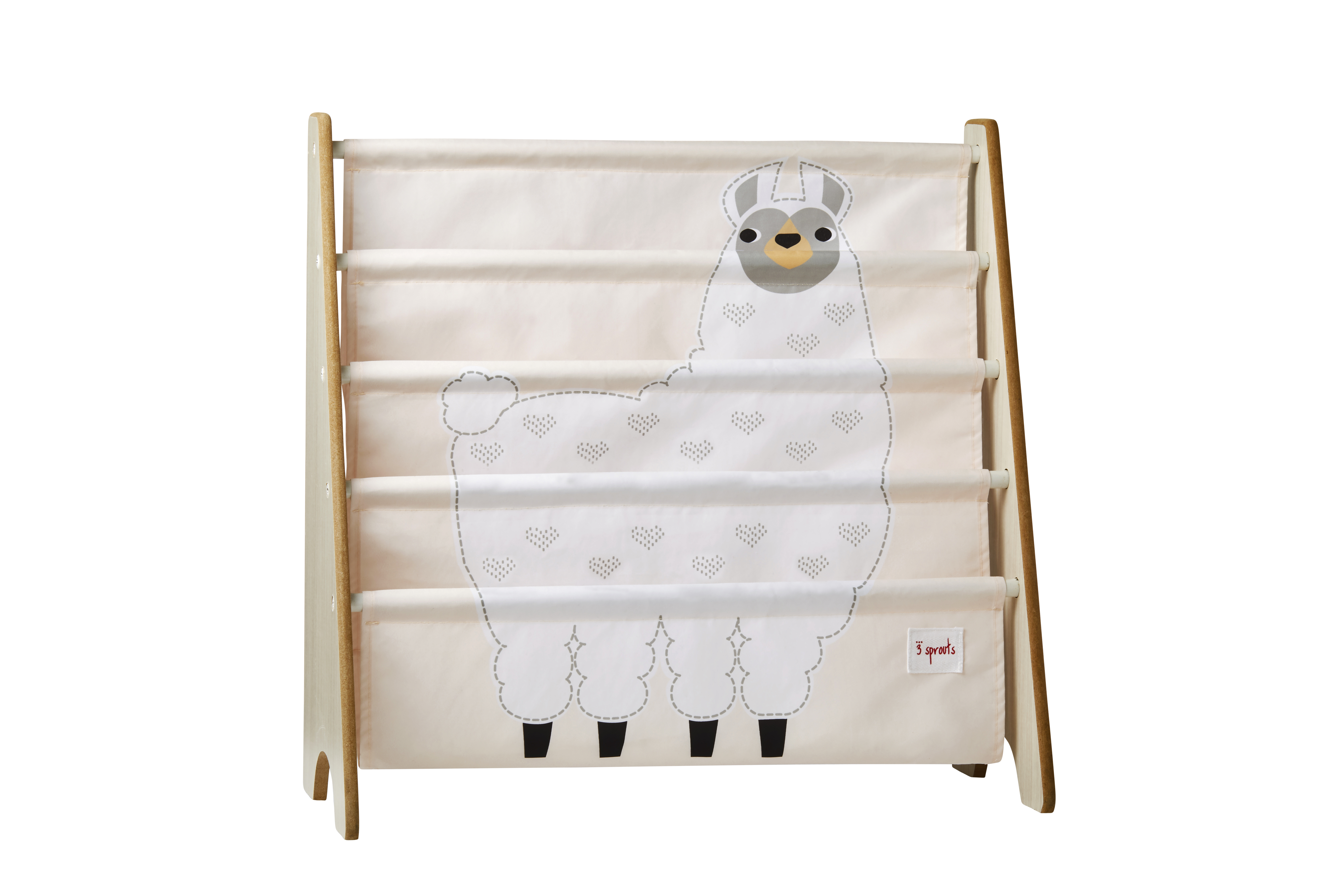 3 Sprouts - Book Rack - White Llama