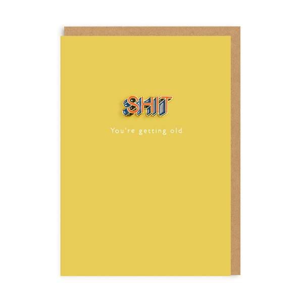 Shit Enamel Pin Greeting Card