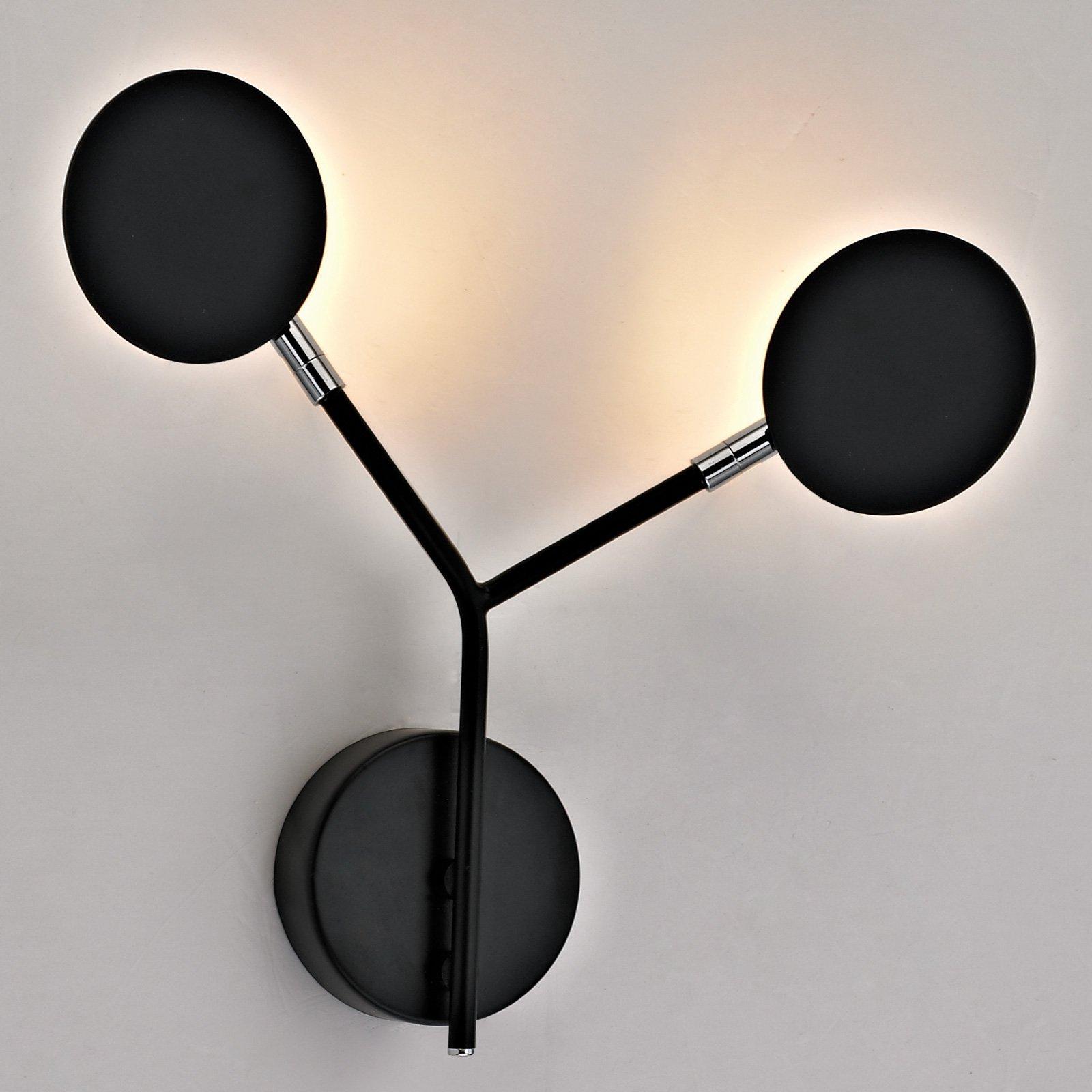LED-vegglampe Belize, 2 lyskilder, svart