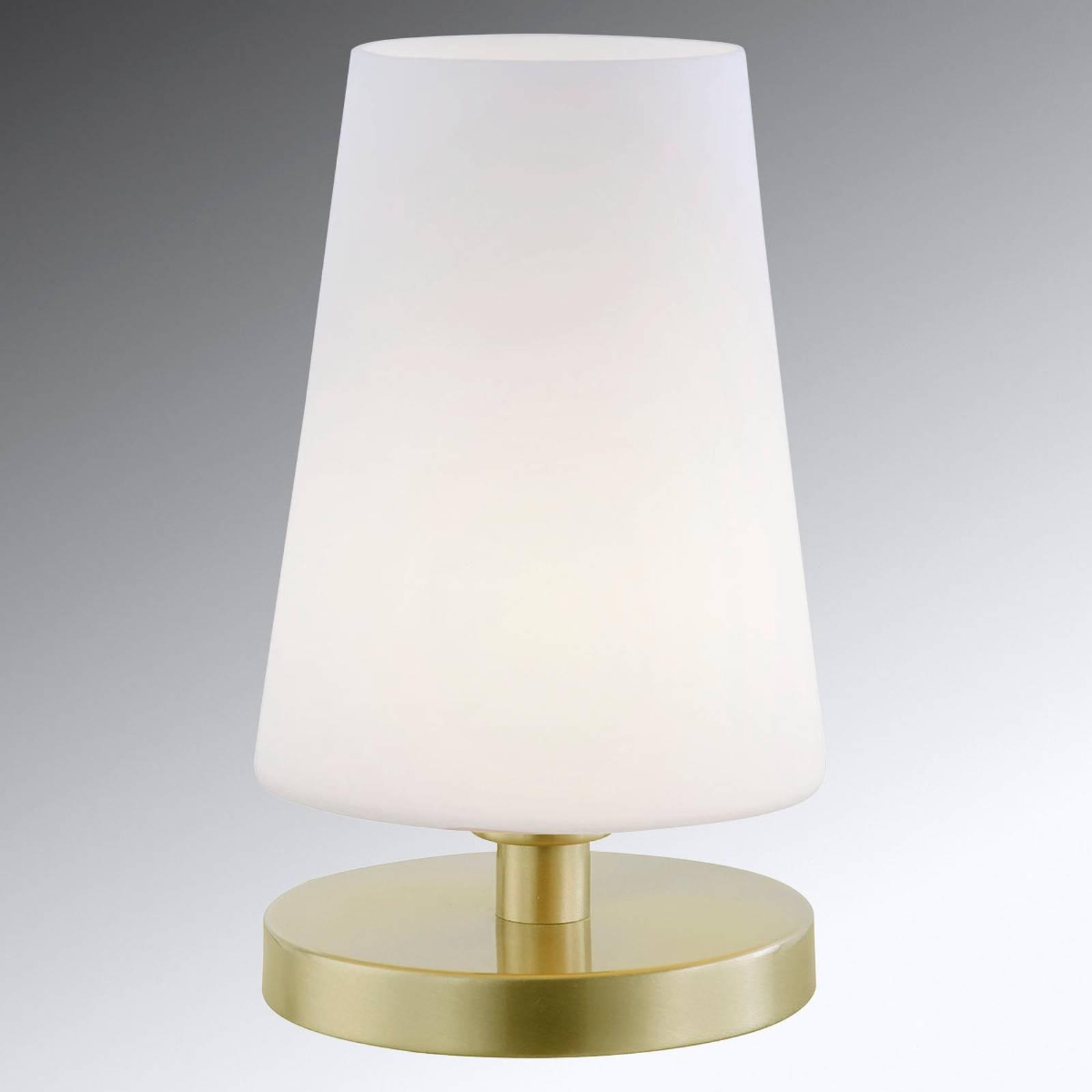 Himmennettävä LED-pöytälamppu Sonja, lasivarjostin