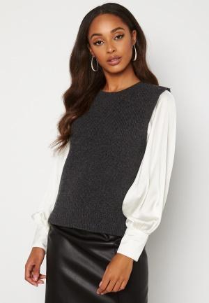ONLY Paris Life Vest Knit Dark Grey Melange S