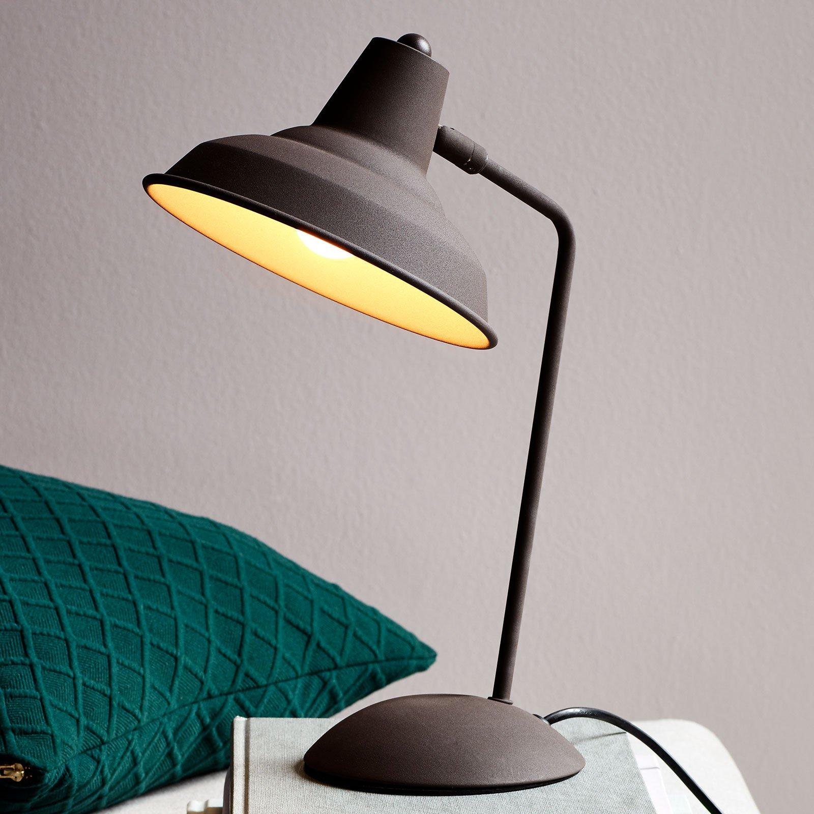 Bordlampe Andy med rustfinish