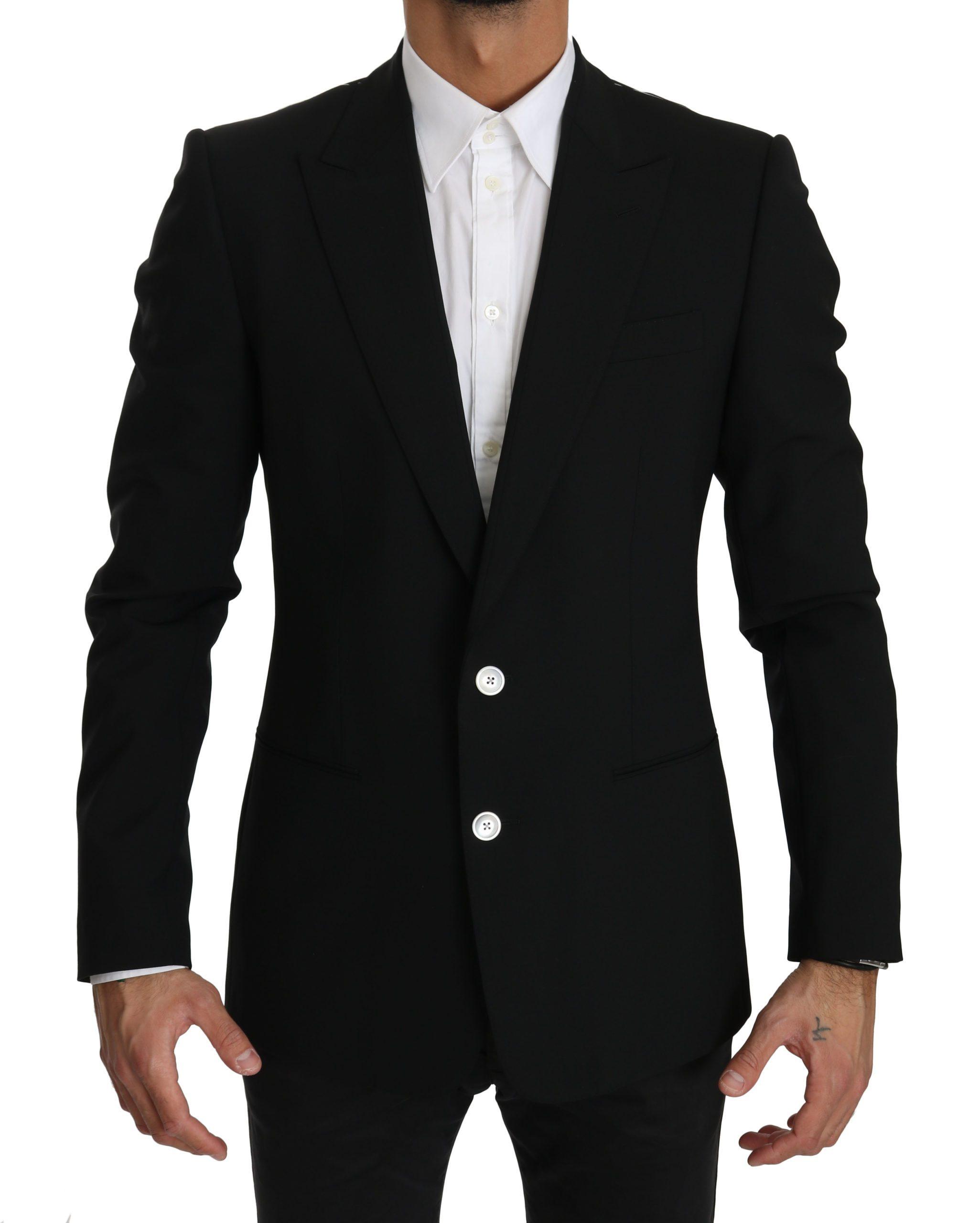 Dolce & Gabbana Men's Slim Fit Wool Blazer Black JKT2483 - IT48   M
