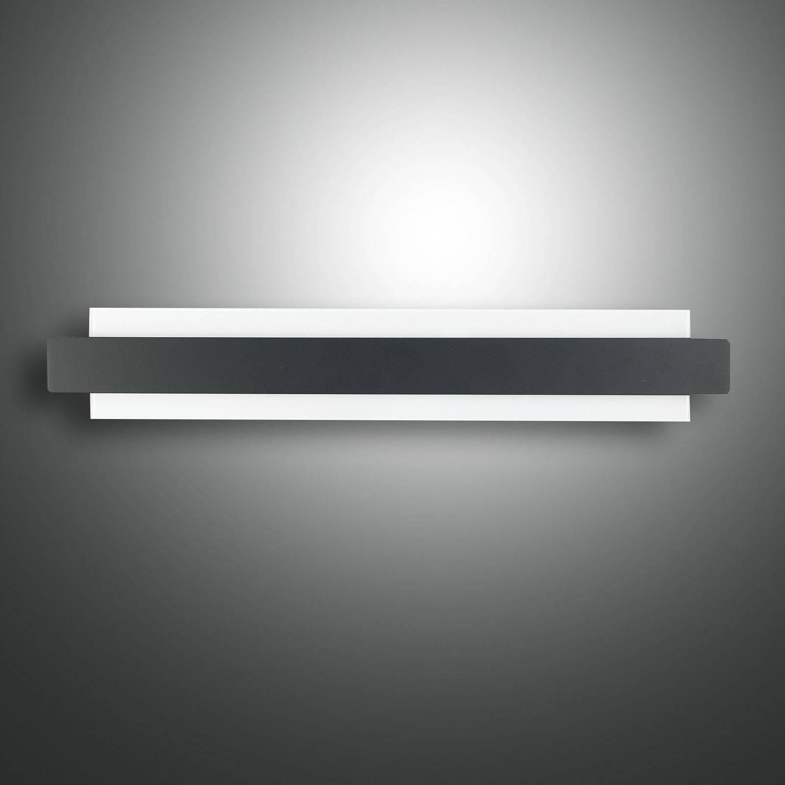 LED-seinävalaisin Regolo, musta