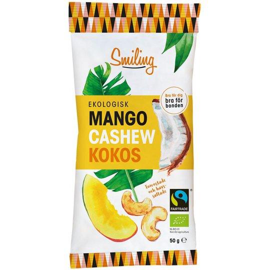 Luomu Cashewpähkinät Mango & Kookos - 12% alennus