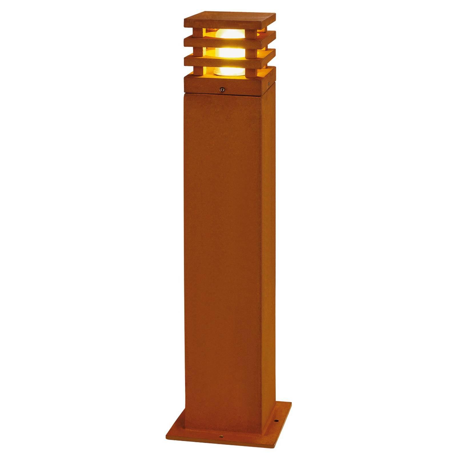 Rustikk LED-gatelampe Rusty, firkantet