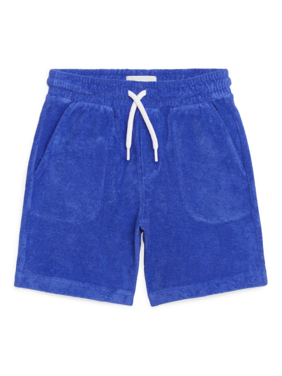 Cotton Towelling Shorts - Blue