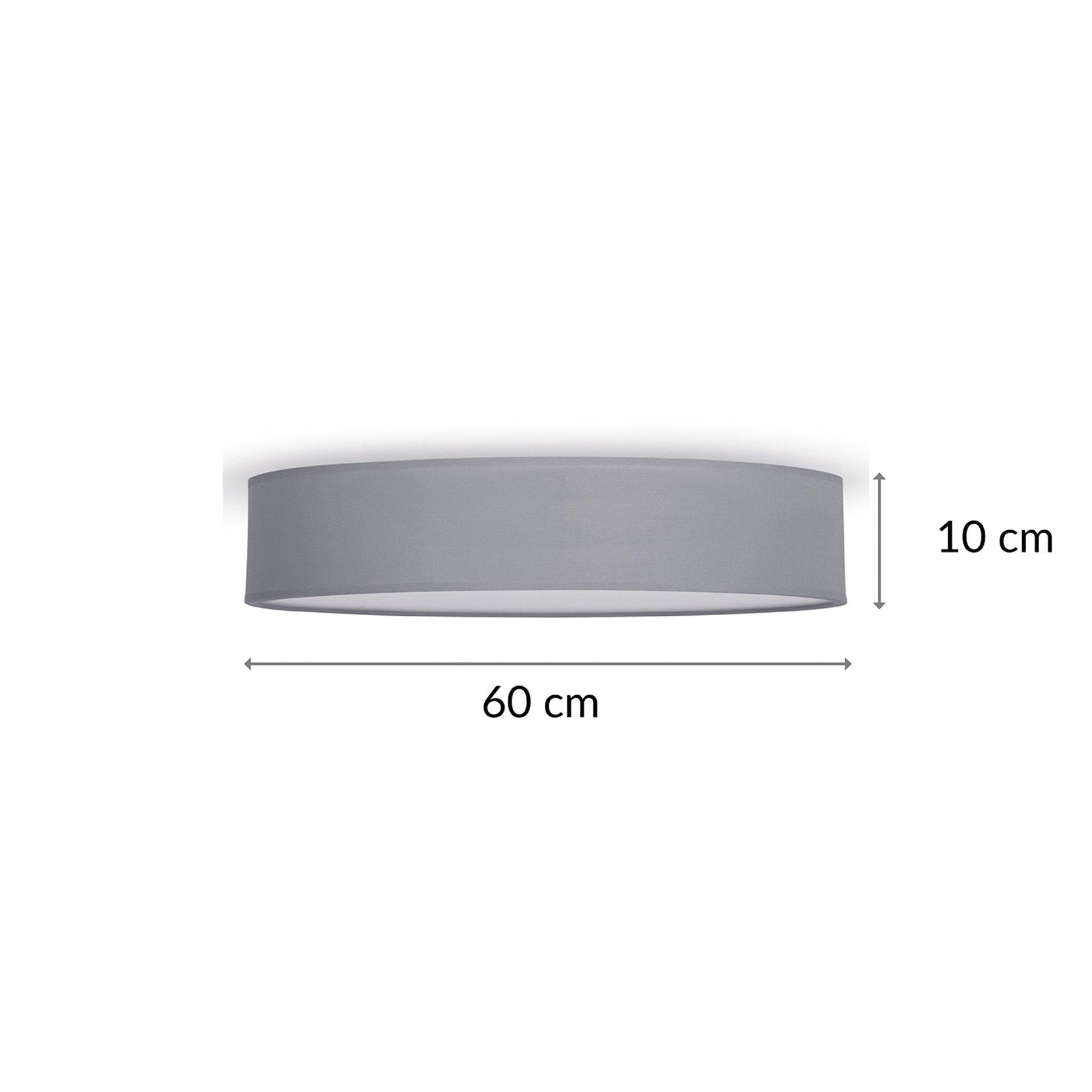 Taklampe Mia, grå, Ø 60 cm