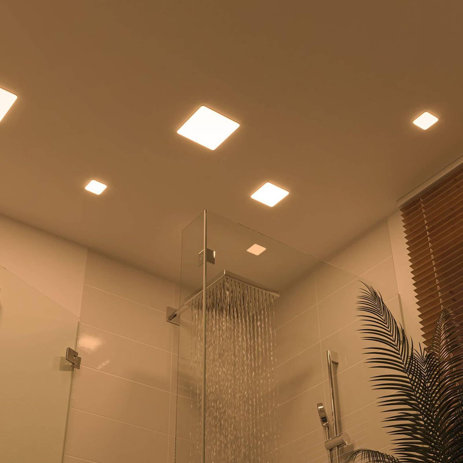 Paulmann LED-panel Veluna 3 000 K kantet 12,5 cm