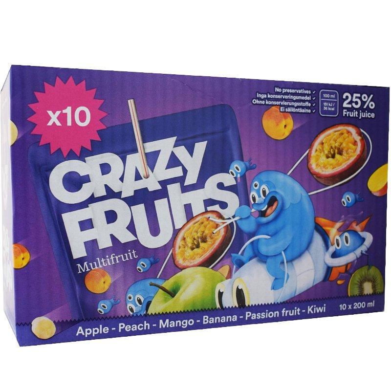 Crazy Fruits Multifruit 10 x 20cl - 37% rabatt