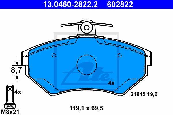 Jarrupalasarja, levyjarru ATE 13.0460-2822.2