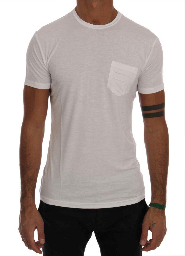 Daniele Alessandrini Men's Cotton Crewneck T-Shirt White TSH1324 - XL