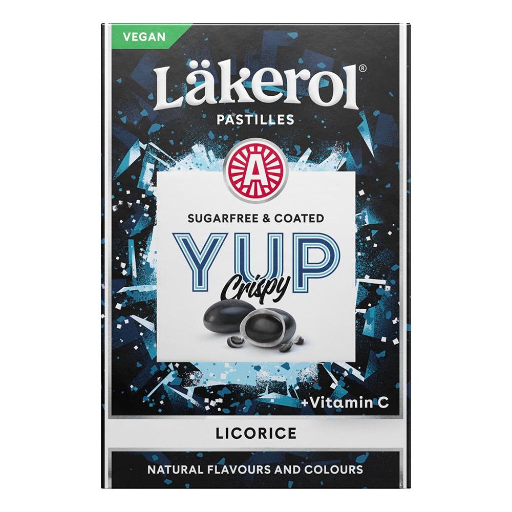 Läkerol Yup Crispy Licorice - 40 gram
