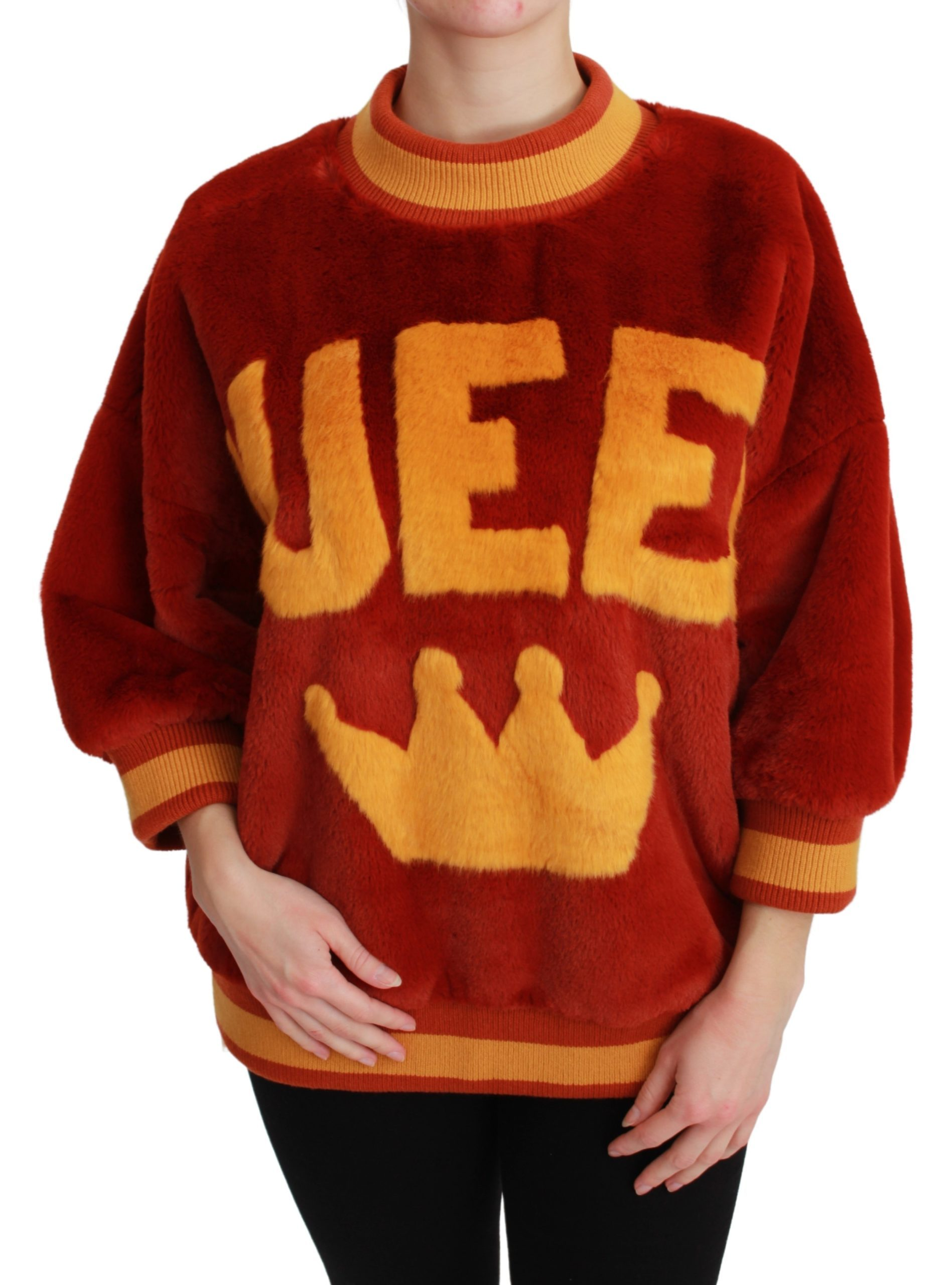 Dolce & Gabbana Women's Queen Crown Pullover Women Sweater Red TSH4668 - IT40 | M