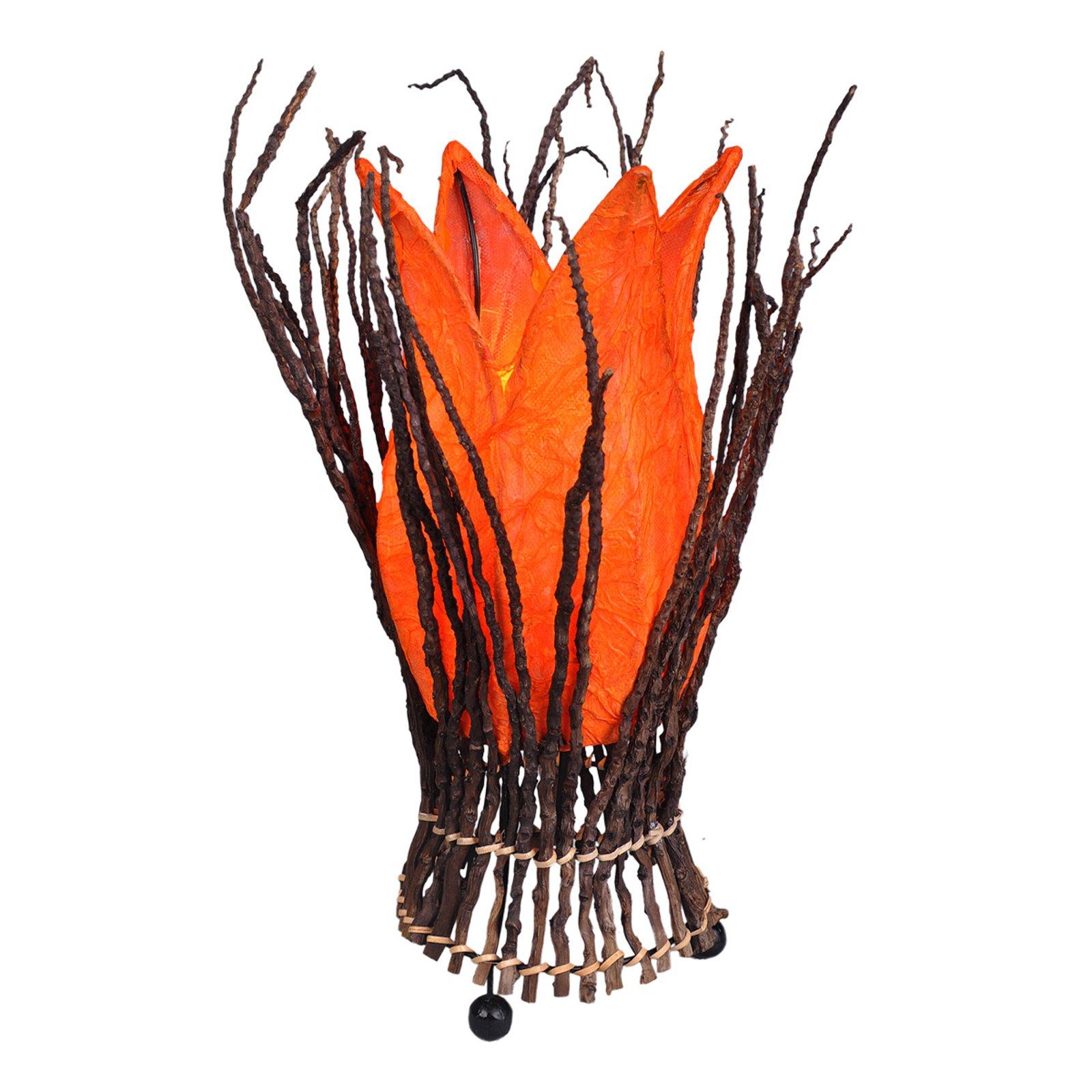 Blomstrende bordlampe Stella, oransje