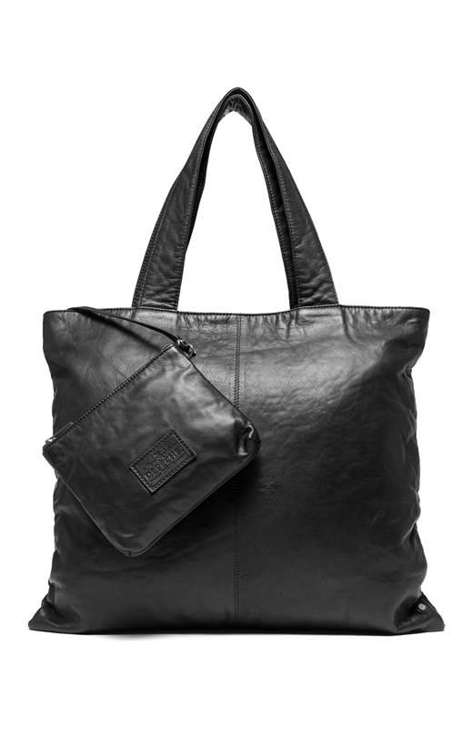 DEPECHE. Skinnväska + liten väska Svart