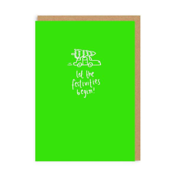 Let The Festivities Begin Christmas Card