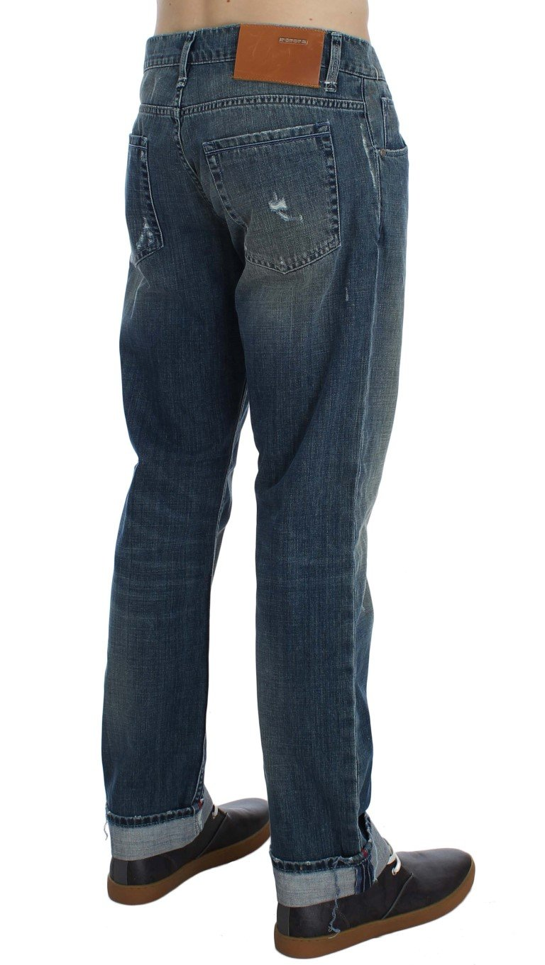 ACHT Men's Denim Straight Fit Jeans Blue SIG30493 - W34