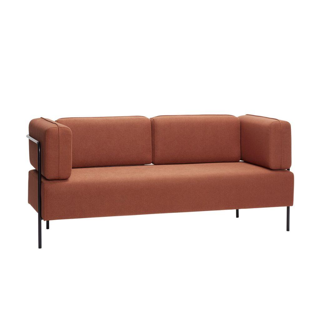 Soffa rostbrun Hubsch