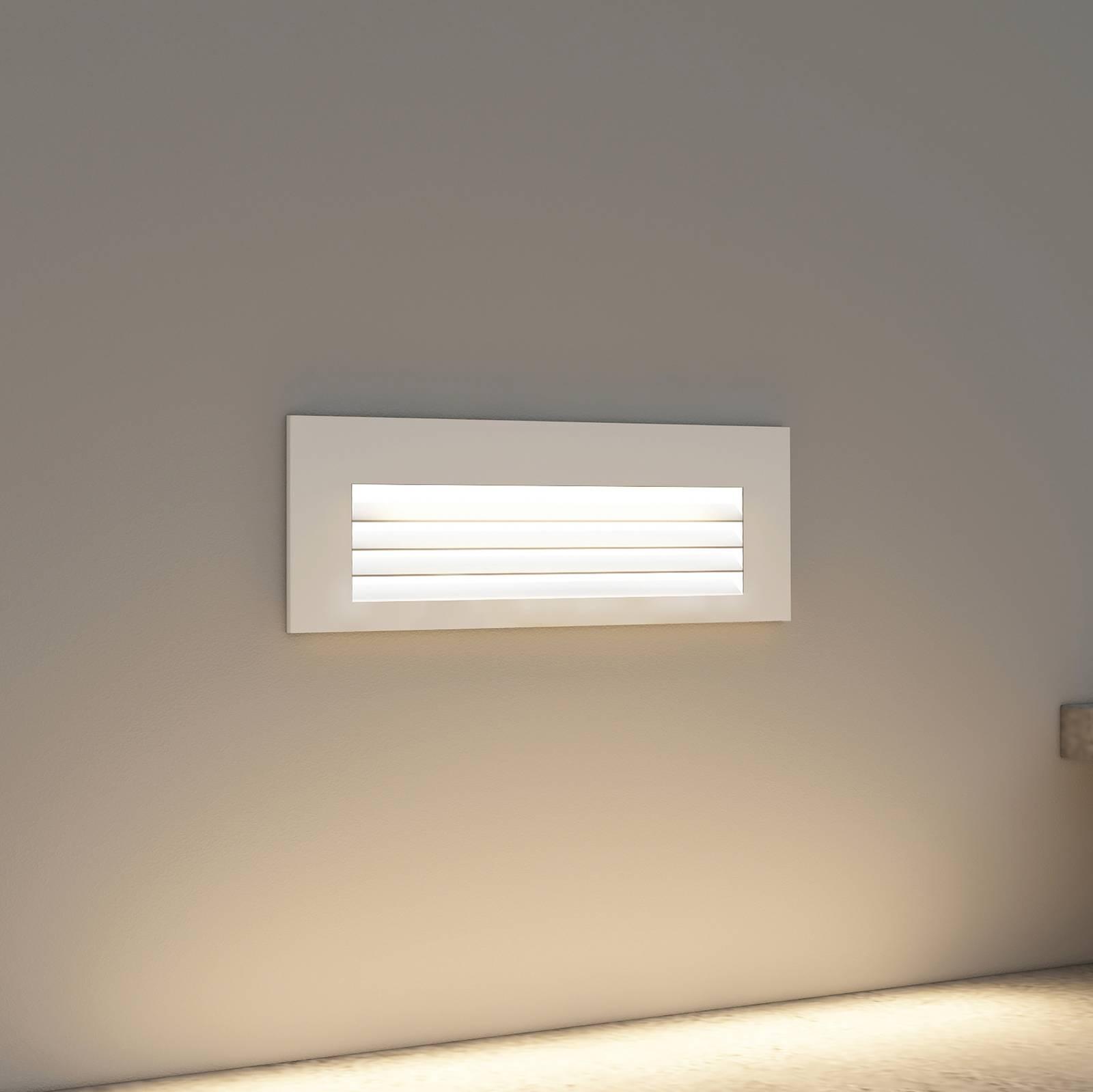 Arcchio Javis -LED-uppovalaisin, rasteri valkoinen