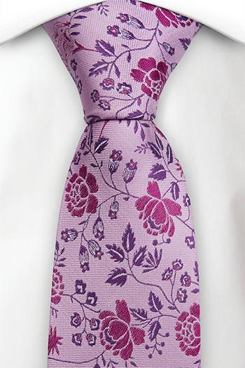 Silke Slips, Kunstnerisk rosa & lilla blomstermønster, Lilla, Blomster