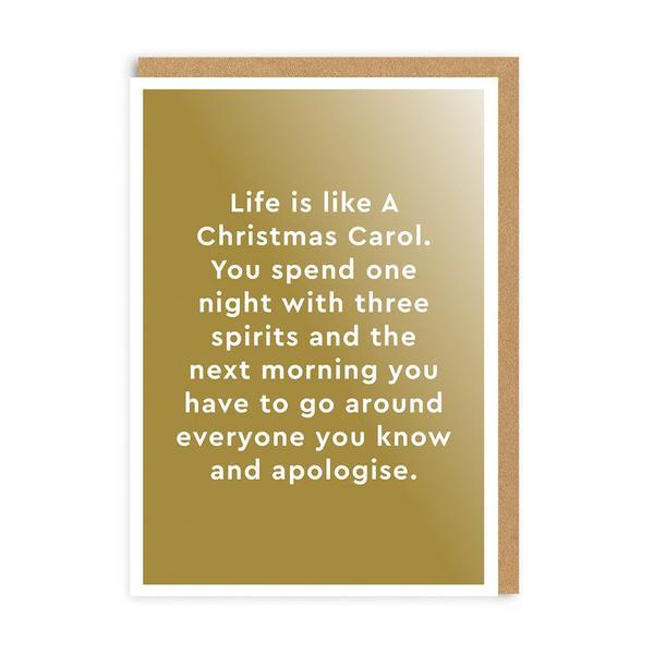 Life Is Like A Christmas Carol Christmas Card