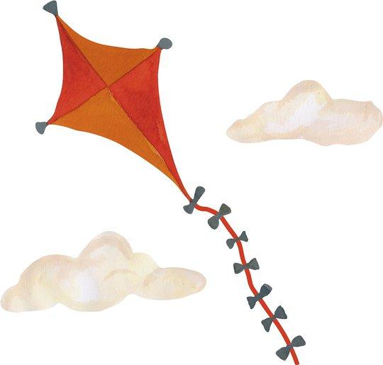 That's Mine Wallsticker Kite Small, Orange