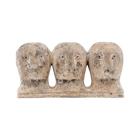 Konstverk Ancient head Grå/Brun